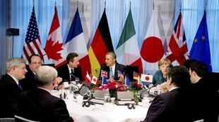 Thượng đỉnh G7 tại La Haye. Ảnh ngày 24/04/2014