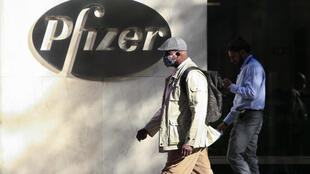 La sede mundial de Pfizer en Nueva York, Estados Unidos, el 9 de noviembre de 2020