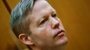 Stephan Ernst aguarda a recibir la condena por el asesinato de Walter Lübcke, el 28 de enero de 2021 en un tribunal de la ciudad alemana de Fráncfort