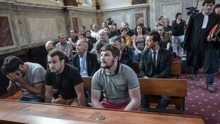 Three of the defendants in court in Pau in September