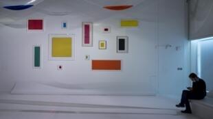 Vue de l'exposition «Le ciel comme atelier», au Centre Pompidou-Metz.
