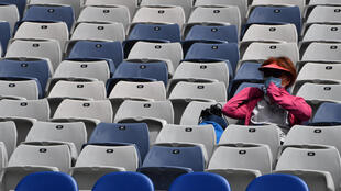 Une spectatrice de l'Open d'Australie, à Melbourne, le 12 février 2021
