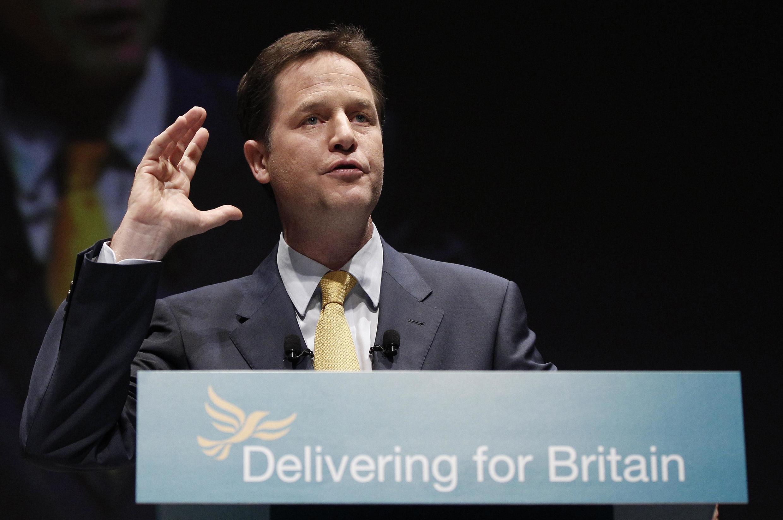 O vice-primeiro-ministro do Reino Unido, Nick Clegg.