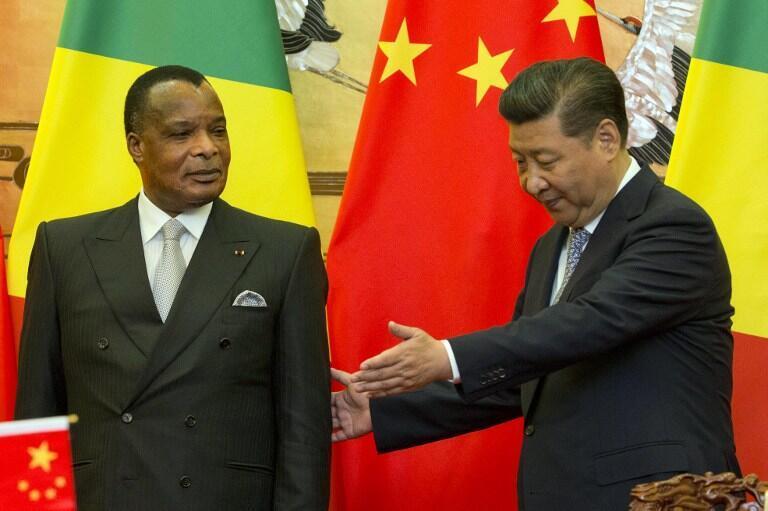 Le président congolais, Denis Sassou-Nguesso, et le président chinois, Xi Jinping, à Pékin, le 5 juillet 2016. (Image d'illustration)