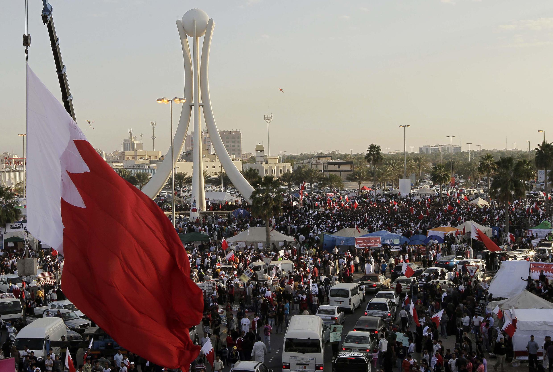 Митинг оппозиции в столице Бахрейна Манаме, 20 февраля 2011.