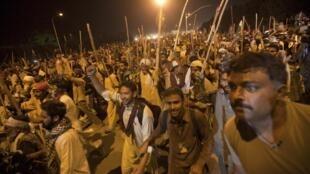 Manifestación en Islamabad, el sábado 30 de agosto de 2014.
