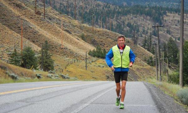 French Marathon runner Serge Girard in Siberia