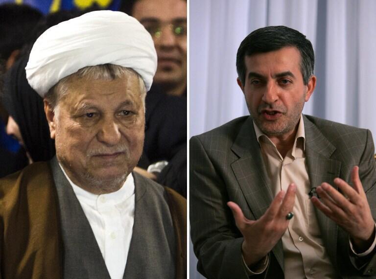O ex-presidente iraniano Akbar Hashemi Rafsanjani (à esq.) e Esfandiar Rahim Mashaie (à dir.), assessor do atual presidente Mahmoud Ahmadinejad, não poderão concorrer à presidência do país.
