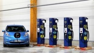 Станция быстрой подзарядки электромобилей Nissan