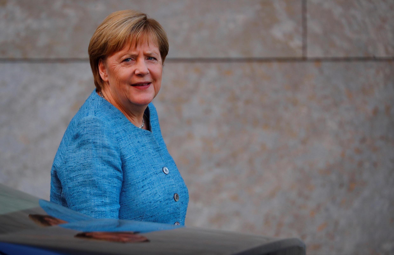 德国总理默克尔在柏林 2018年8月26日