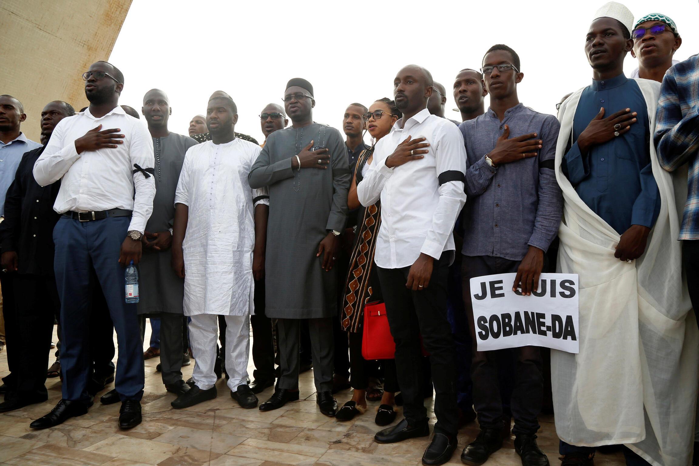 «Je suis Sobane»: cérémonie du souvenir pour les victimes de Sobane, monument de la Paix, Bamako, le 15 juin 2019.