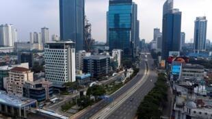 Vue aérienne de Jakarta, capitale de l'Indonésie. (Image d'illustration)