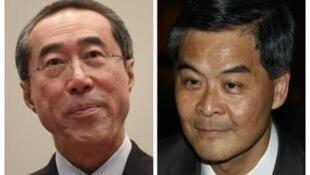 香港特首選舉的兩名候選人:唐英年和梁振英