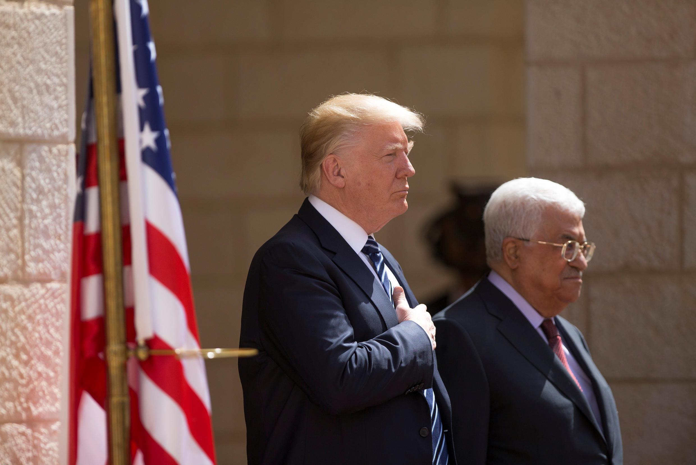 دونالد ترامپ، رئیس جمهوری آمریکا و محمود عباس، رئیس تشکیلات خودگردان فلسطینی