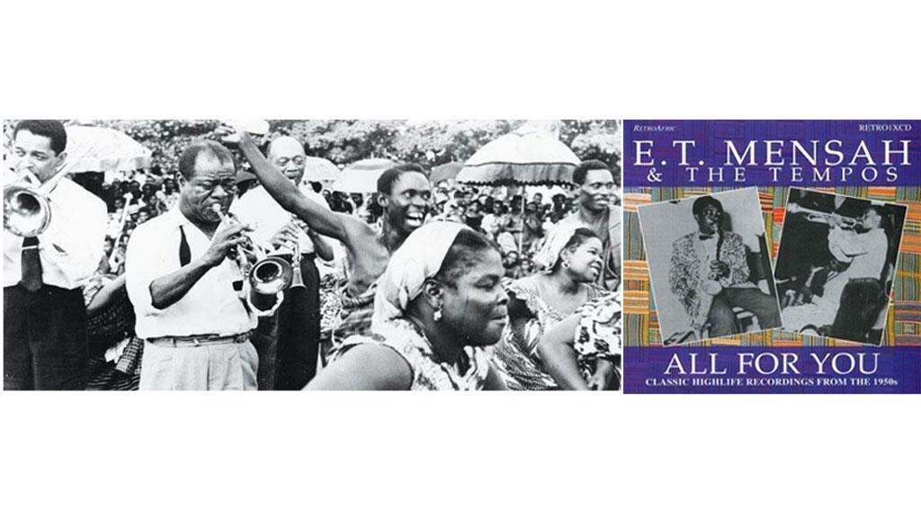 Louis Armstrong au Ghana en 1956 & The Tempos avec ET Mensah. (@ DR)