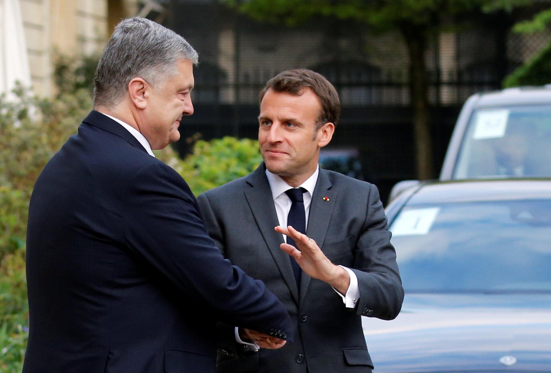 Встреча президентов Эмманюэля Макрона и Петра Порошенко в Елисейском дворце 12 апреля 2019