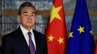 Ngoại trưởng Vương Nghị tại Bruxelles, Bỉ, quảng bá cho hình ảnh của Trung Quốc. Ảnh ngày 17/12/2019.