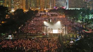 香港六四集會資料照片