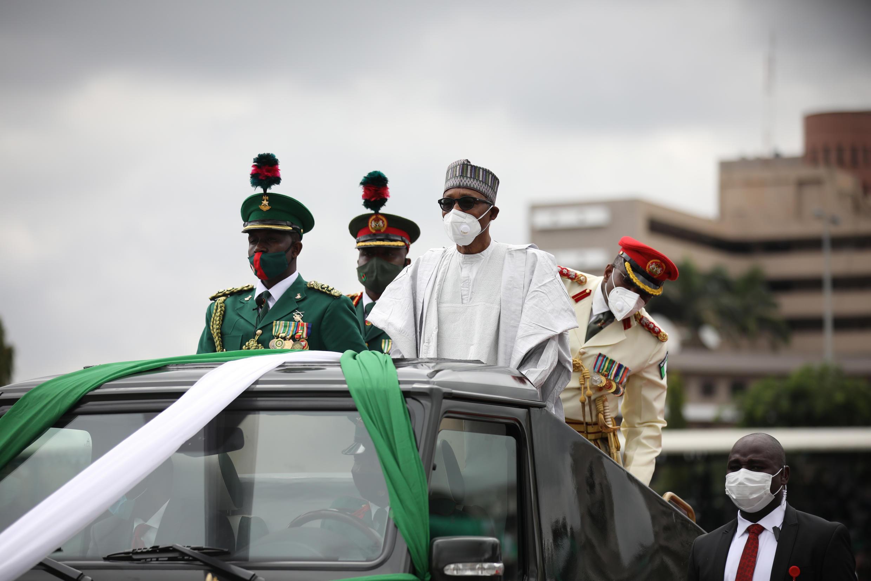 El presidente nigeriano, Muhammadu Buhari, en Abuya, el 1 de octubre de 2020
