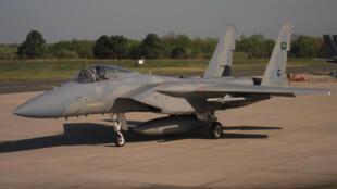 F15C du 2nd Escadron de l'armée de l'air saoudienne (RSAF) sur la base de Nancy durant l'exercice «Green Shield». Six avions de ce type avaient été déployés.