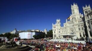 Misa de apertura de la Jornada Mundial de la Juventud en Madrid, el 16 de agosto de 2011.