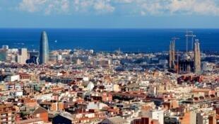 西班牙破獲一中國偷渡集團155人被抓,圖為巴塞羅納。