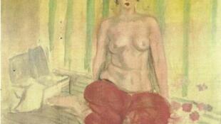 """La """"Odalisca con pantalón rojo"""" fue pintada por Henri Matisse en 1925."""