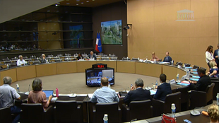 A meeting of the commission on French bioethical law, 29 August 2019.