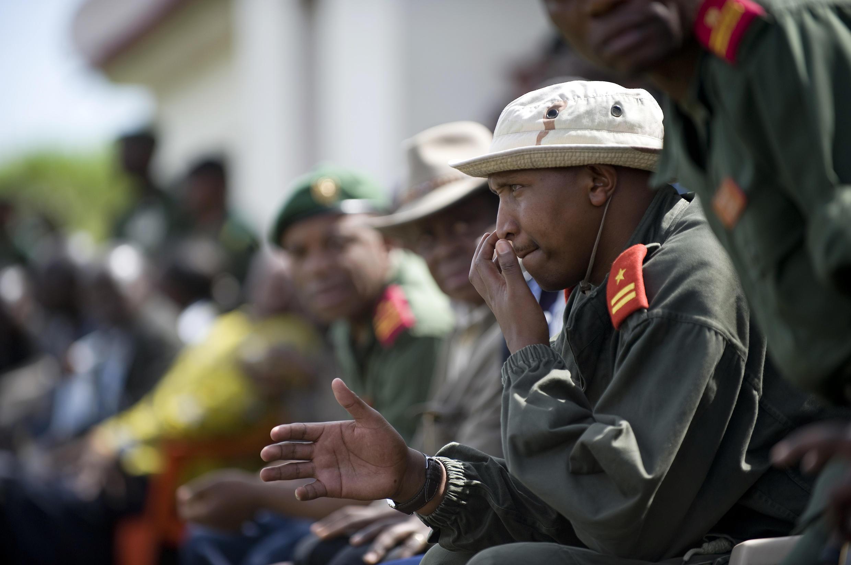 Bosco Ntaganda, wakati wa sherehe ya kuingiza waasi katika vikosi vya jeshi la DR Congo, mwezi Januari 2009 Kivu Kaskazini.