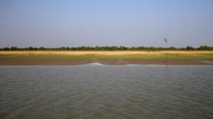 L'île de Thengar Char, au Bangladesh, sur laquelle les autorités veulent relocaliser les réfugiés Rohingyas.