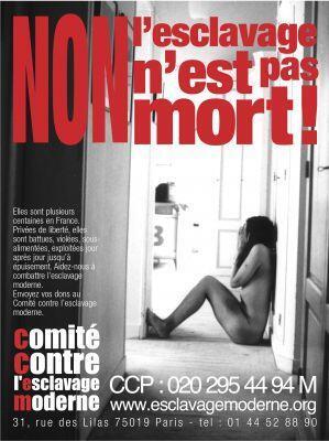 Affiche du Comité contre l'esclavage moderne