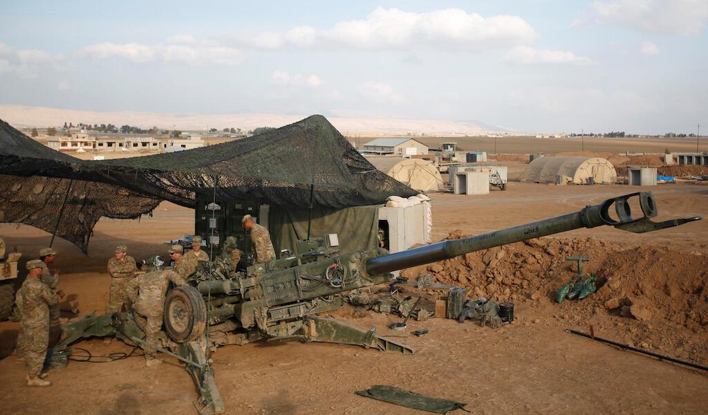 Moja ya mitambo ya Marekani ambayo imepelekwa nchini Syria.