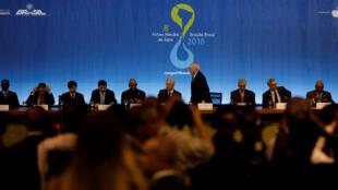 Panorama geral durante a cerimónia de abertura do 8º Fórum Mundial da Água em Brasília