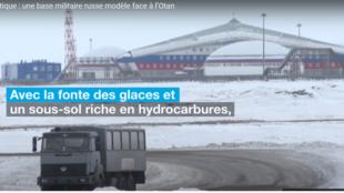 Sans titreune base militaire russe modèle face à l'Otan