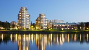 Vue de la ville d'Umeå (en Suède).