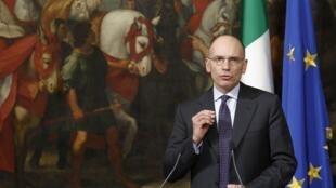 Enrico Letta, el pasado 12 de febrero en Roma.