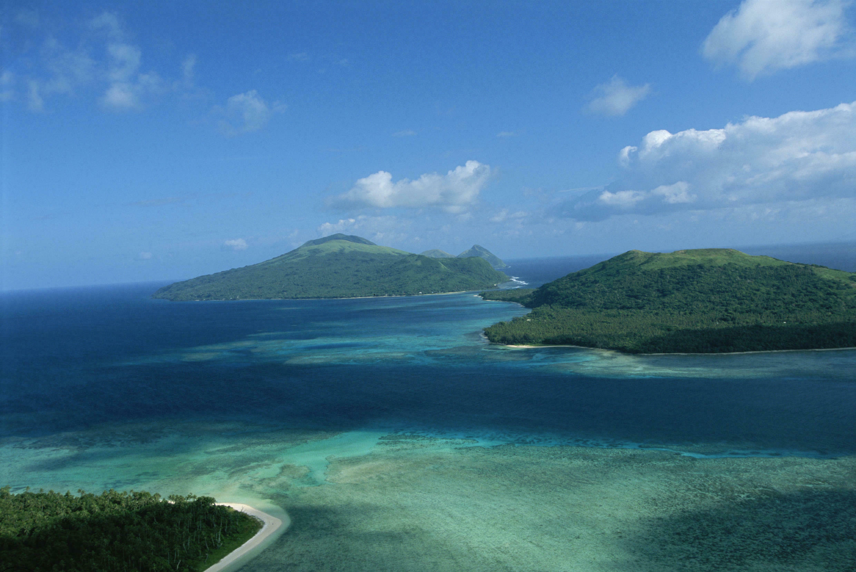 An aerial view of the Vanuatu archipelago.