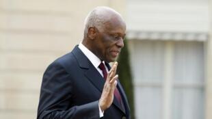 José Eduardo dos Santos, ex-Presidente de Angola. Paris, 29 de Abril de 2014.