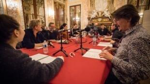 À la Comédie française, les comédiens interprètent «Le Procès», adaptation des «Fourberies de Scapin».