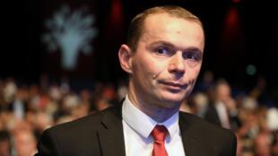 Olivier Dussopt, secrétaire d'État auprès du ministre des Comptes publics, en charge de la Fonction publique. Photo datée du 23 novembre 2017.