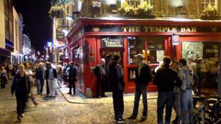 Le quartier de Temple Bar à Dublin.