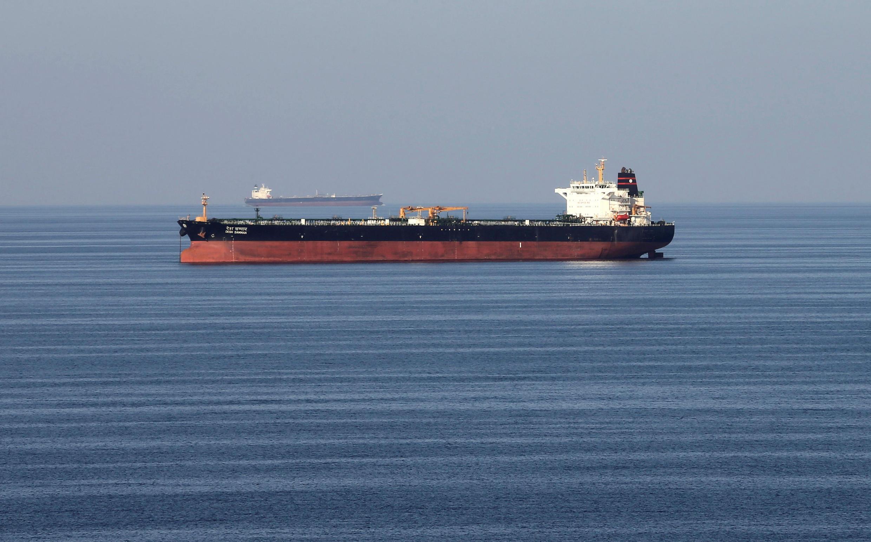 Ảnh minh họa: Tàu chở dầu đi qua eo biển Ormuz, 21/12/2018.