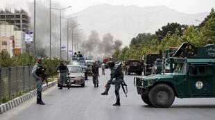 Kaboul, le 22 juin 2015. Les talibans ont revendiqué une attaque qui ciblait la Chambre basse du Parlement afghan.