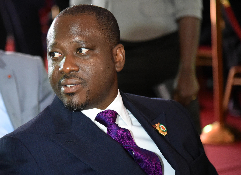 Guillaume Soro, le président de l'Assemblée nationale ivoirienne et ancien chef de la rébellion. Il est accusé par la justice burkinabè d'avoir soutenu le putsch raté du général Gilbert Diendéré le 17 septembre 2015.