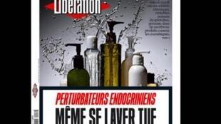 Capa do jornal Libération desta terça-feira, 28 de fevereiro de 2017, alerta sobre os desreguladores endócrinos