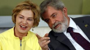 Cựu tổng thống Brazil, Luiz Inacio Lula da Silva và vợ, bà Marisa Leticia.