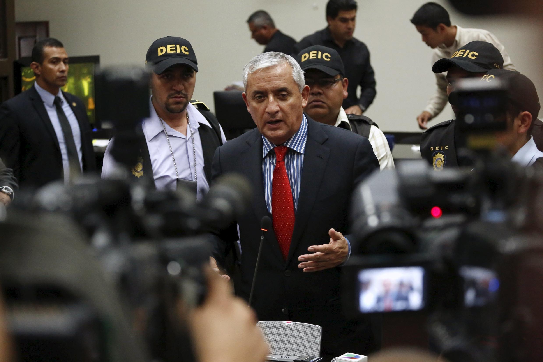 Imagen de Pérez Molina ante el tribunal de Guatemala el pasado 3 de septiembre en Guatemala City
