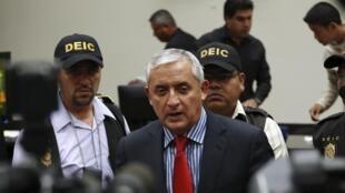 Otto Pérez Molina, ex-presidente da Guatemala. 03/09/15