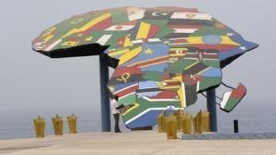 Mapa do continente africano.