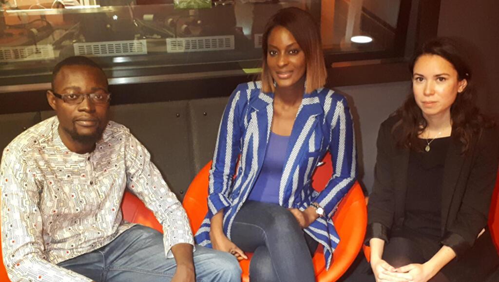 De gauche à droite : Samir, Diara et Camille.